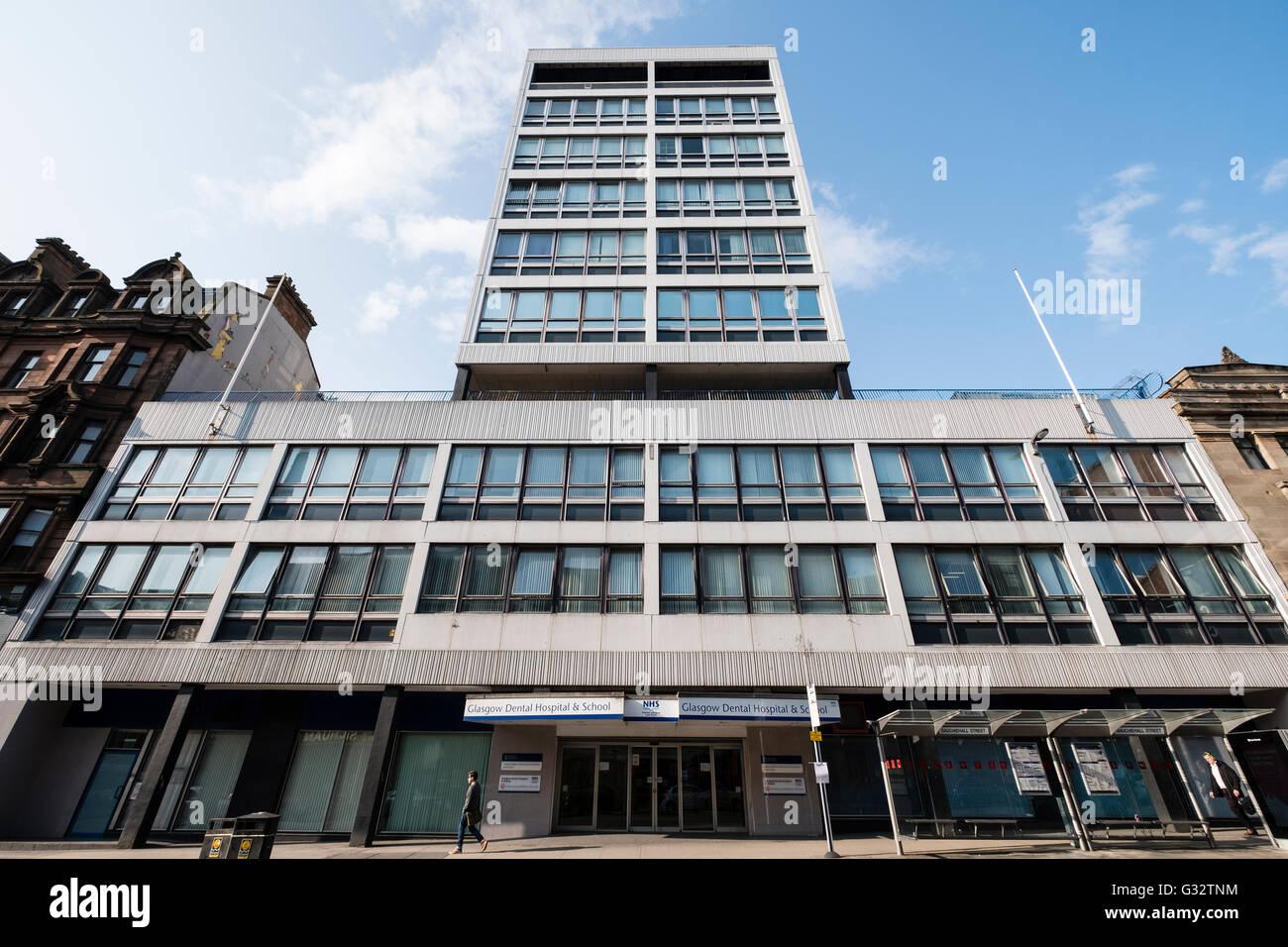 Exterior of  NHS Glasgow Dental Hospital and School on Sauchiehall Street Glasgow, Scotland, United Kingdom - Stock Image