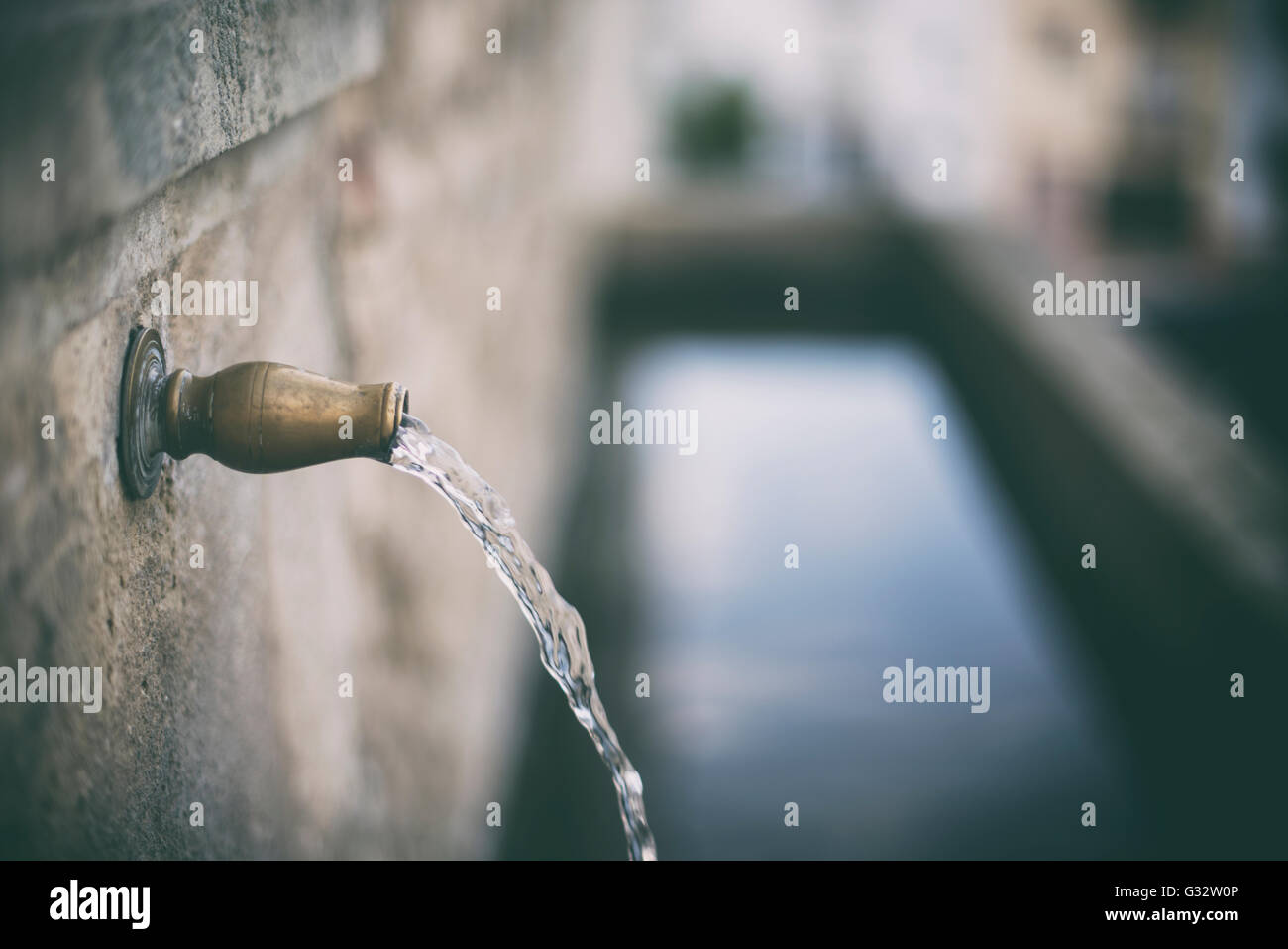 Water Coming Out Tap Water Stock Photos & Water Coming Out Tap Water ...