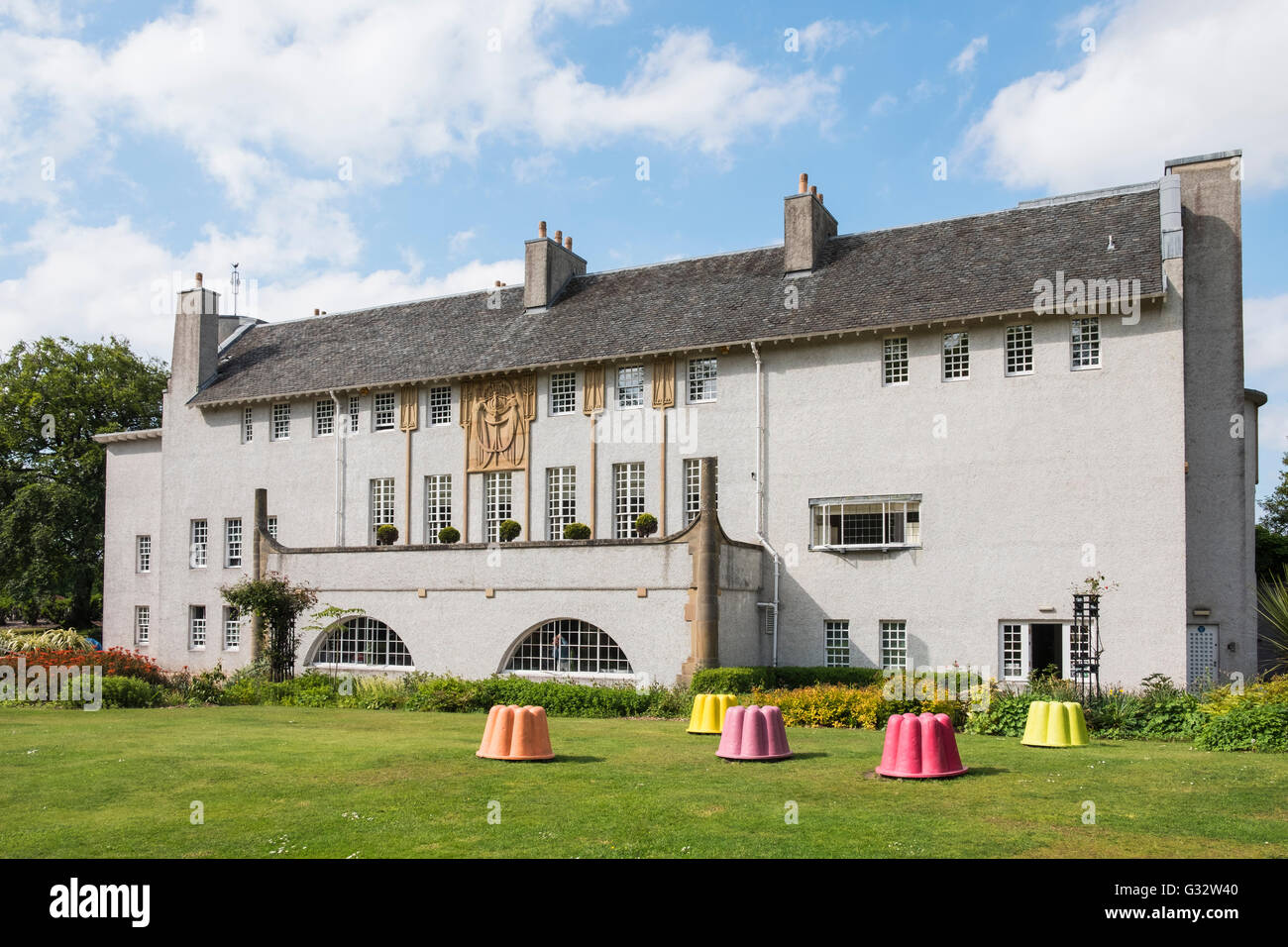 House for an Art Lover by Charles Rennie Mackintosh in Bellahouston Park Glasgow , United Kingdom - Stock Image