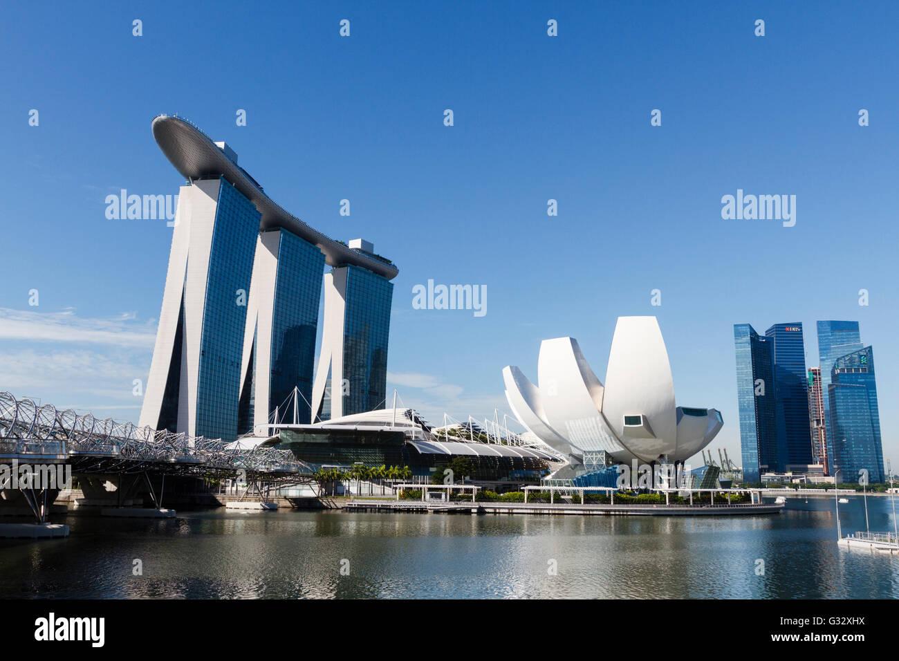 Marina Bay Sands and ArtScience Museum, Singapore - Stock Image