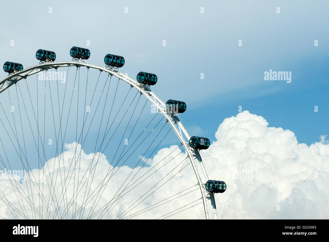 Singapore Flyer, observation wheel, Singapore - Stock Image
