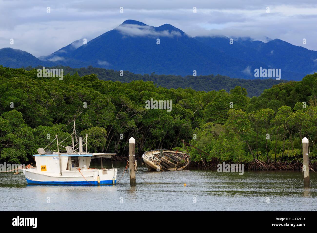 Boats, Port Douglas, Queensland, Australia - Stock Image