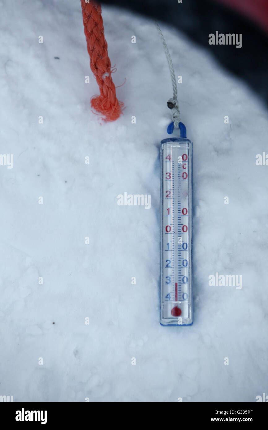 K Skero Finland Outside Thermometer Shows Minus 30 Degrees Celsius