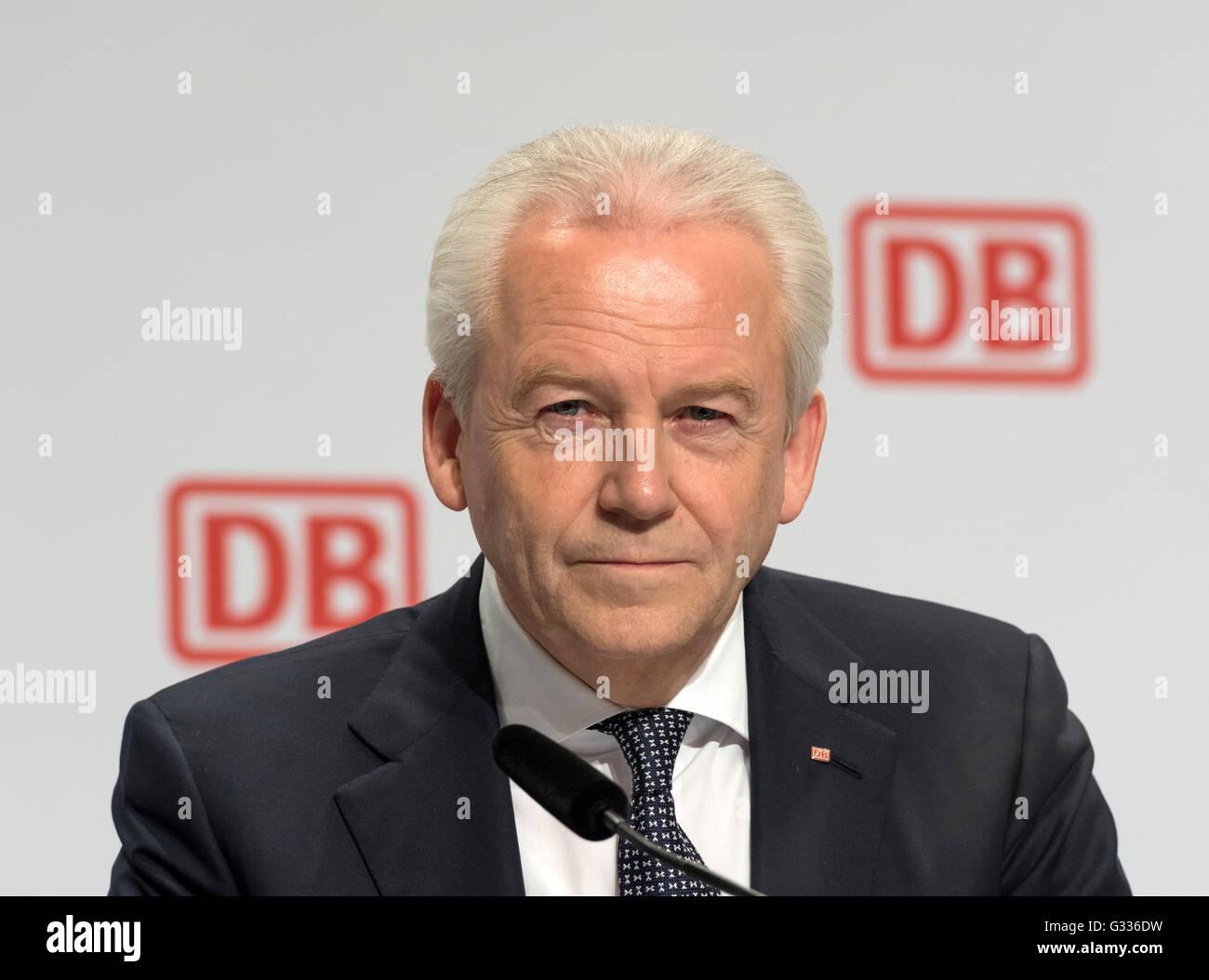 Berlin, Germany, Ruediger Grube, CEO of Deutsche Bahn AG - Stock Image