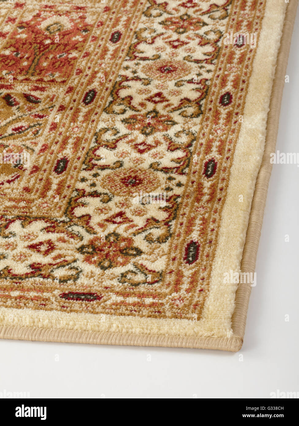 Oriental Rug With Floral Geometric Abstract Ornament Fabric