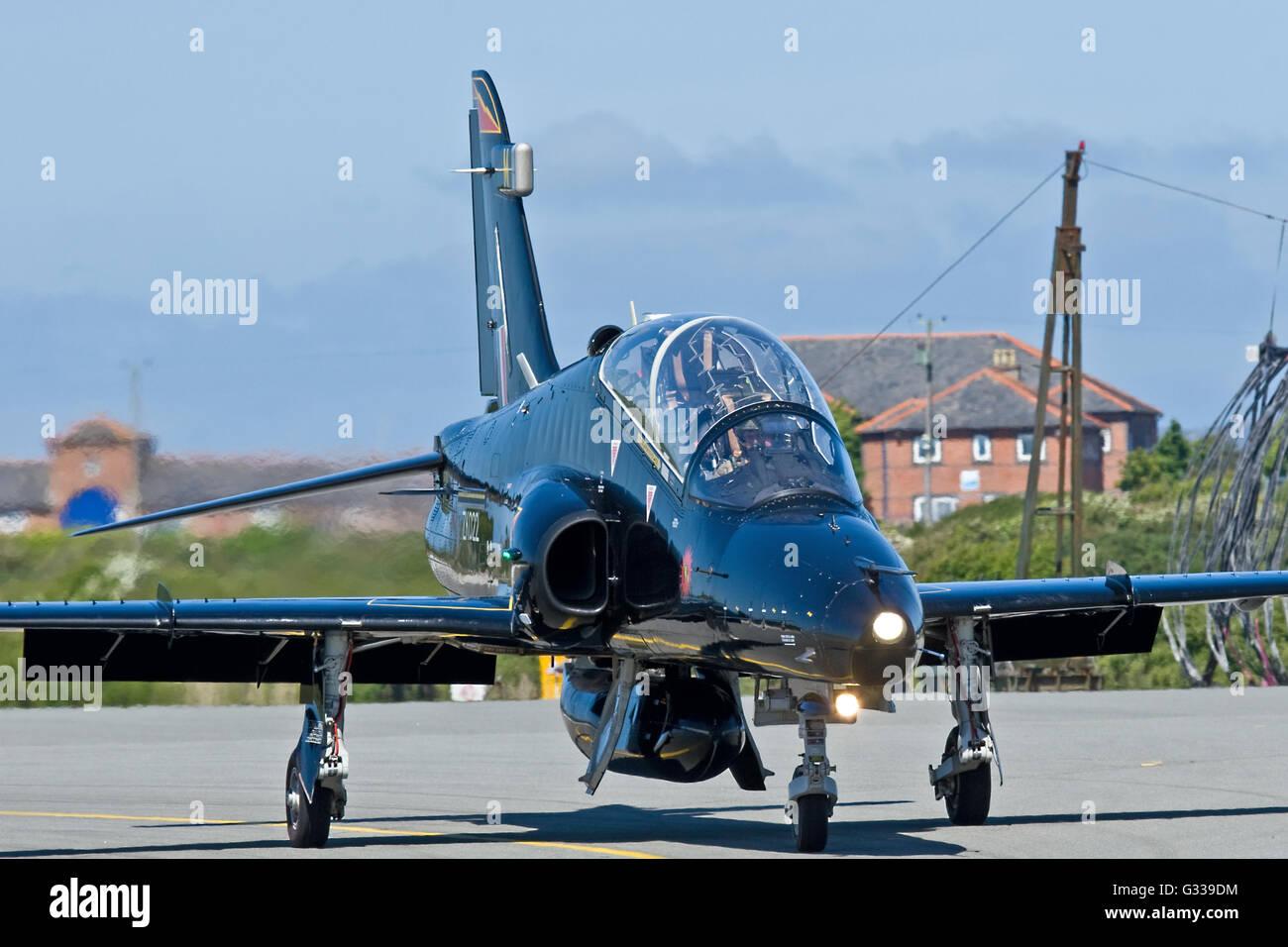 Hawk T.2 jet trainer RAF Valley Stock Photo