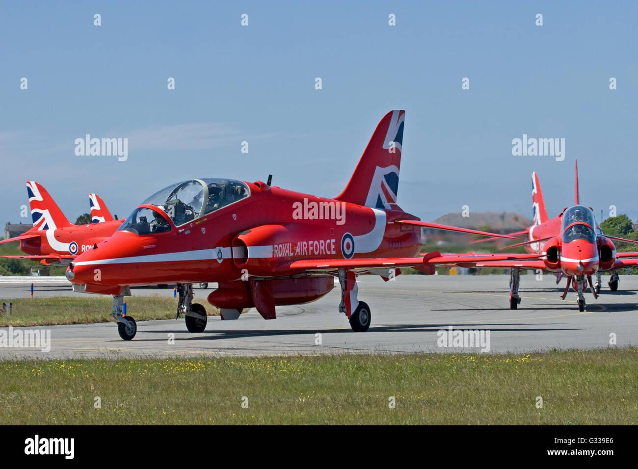 Red Arrows RAF Aerobatic Team Stock Photo