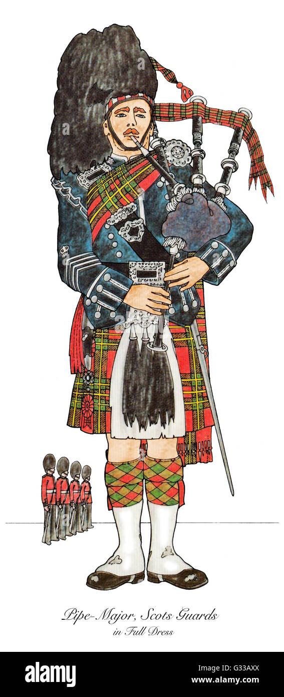 Scots Guard - Stock Image