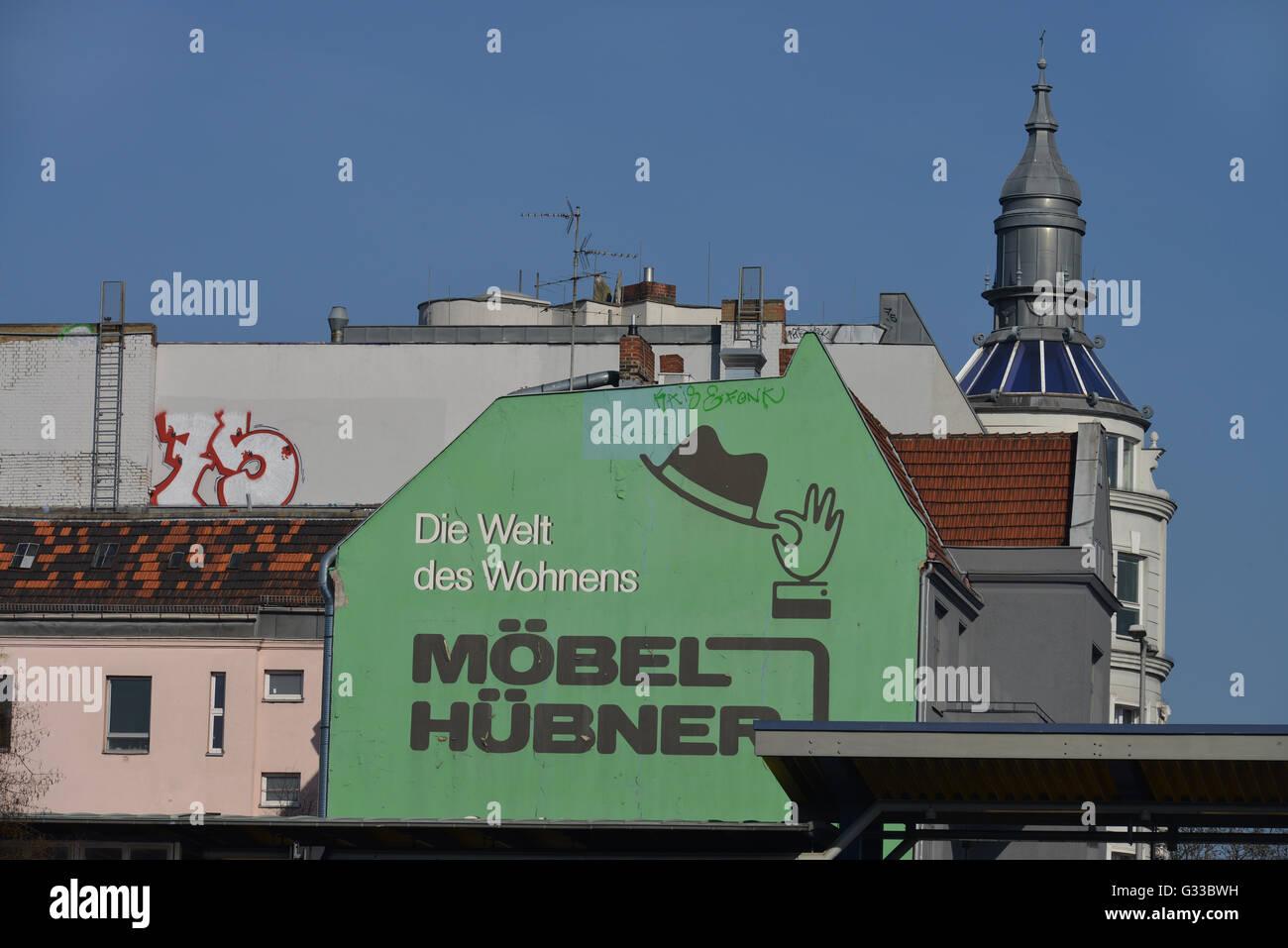 Werbung Moebel Huebner Bundesallee Friedenau Berlin