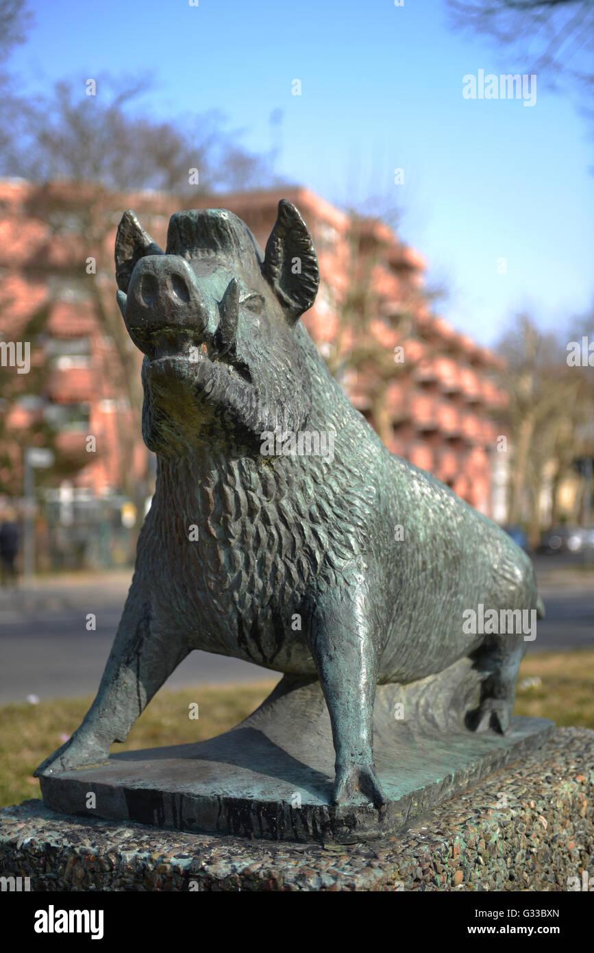 Wilder Eber, Platz am Wilden Eber, Dahlem, Berlin, Deutschland - Stock Image