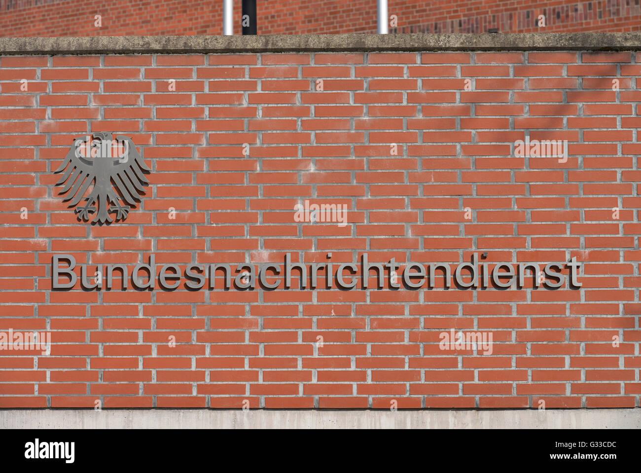 BND, Viktoriastrasse, Gardeschuetzenweg, Lichterfelde, Berlin, Deutschland Stock Photo