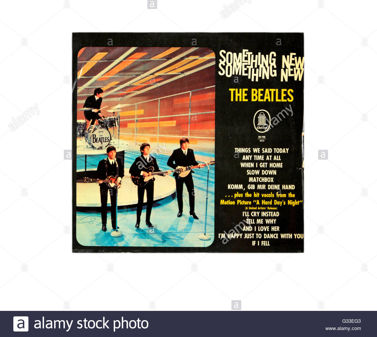 Something New long playing record cover by the Beatles. - Stock Image