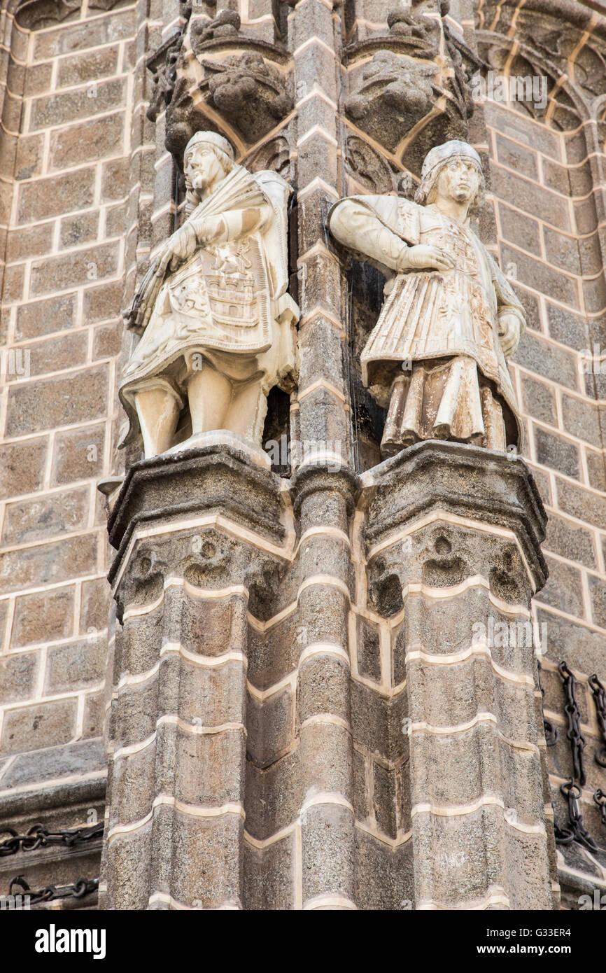 exterior corner detail of Monastery of Saint John of the Kings in Toledo Spain. The Monastery of San Juan de los - Stock Image