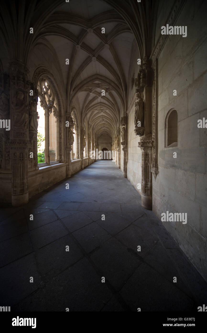 Monastery of Saint John of the Kings in Toledo Spain  Interior Cloister (The Monastery of San Juan de los Reyes) - Stock Image