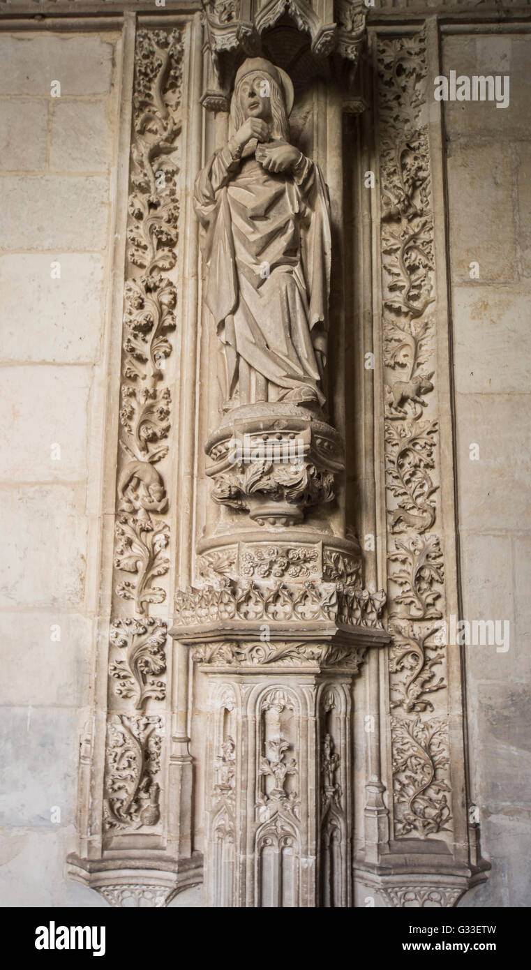 Monastery of Saint John of the Kings in Toledo Spain  Interior Cloister, monument (The Monastery of San Juan de Stock Photo