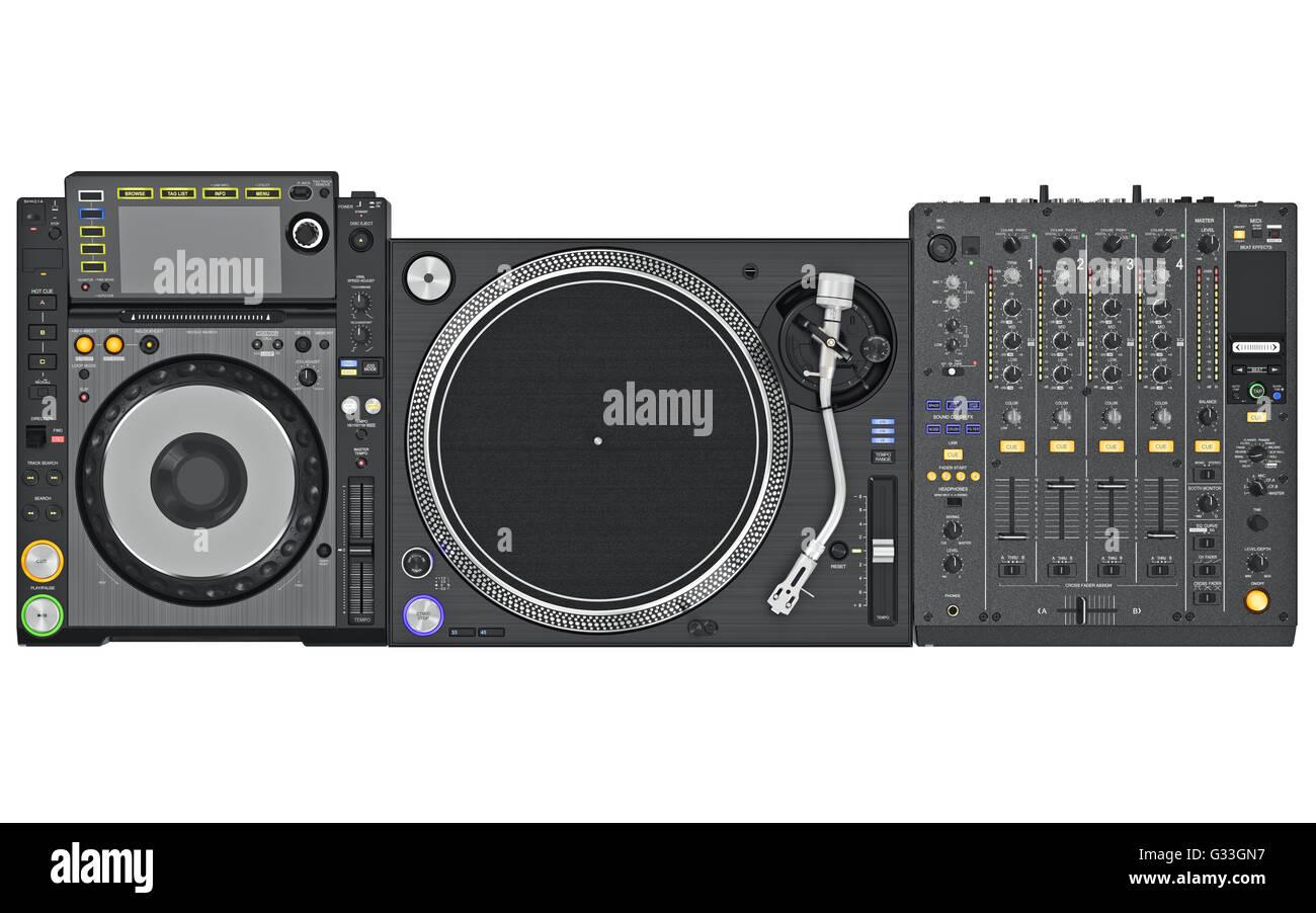 Set dj music mixer table top view  sc 1 st  Alamy & Set dj music mixer table top view Stock Photo: 105185171 - Alamy