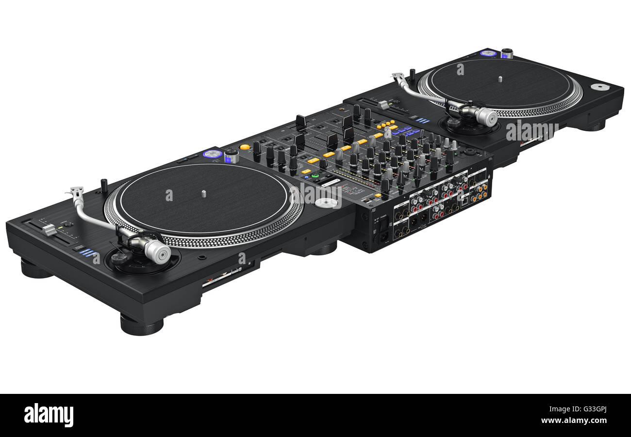 Dj set table mixing digital turntable  sc 1 st  Alamy & Dj set table mixing digital turntable Stock Photo: 105185210 - Alamy