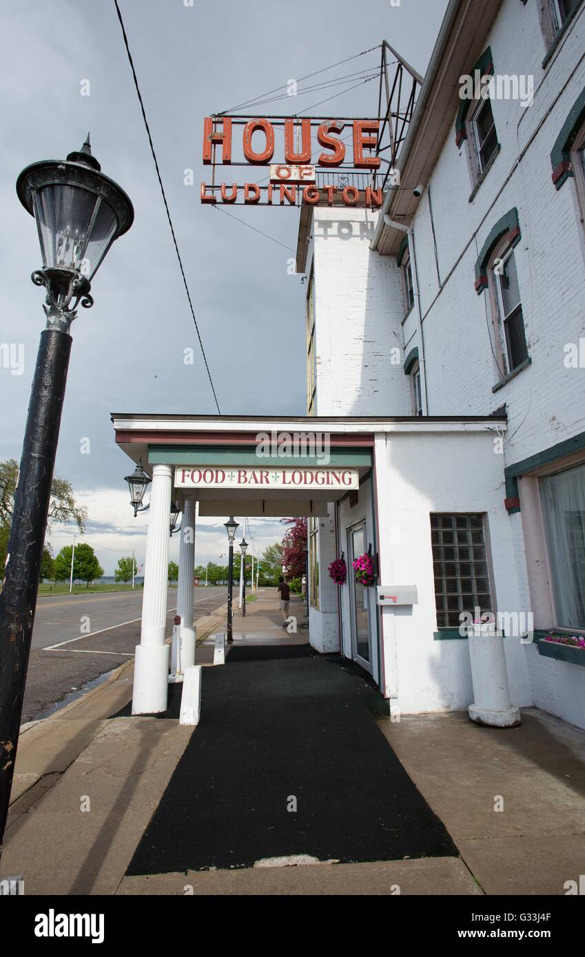 The house of Ludington hotel in Escanaba, Michigan, USA. - Stock Image