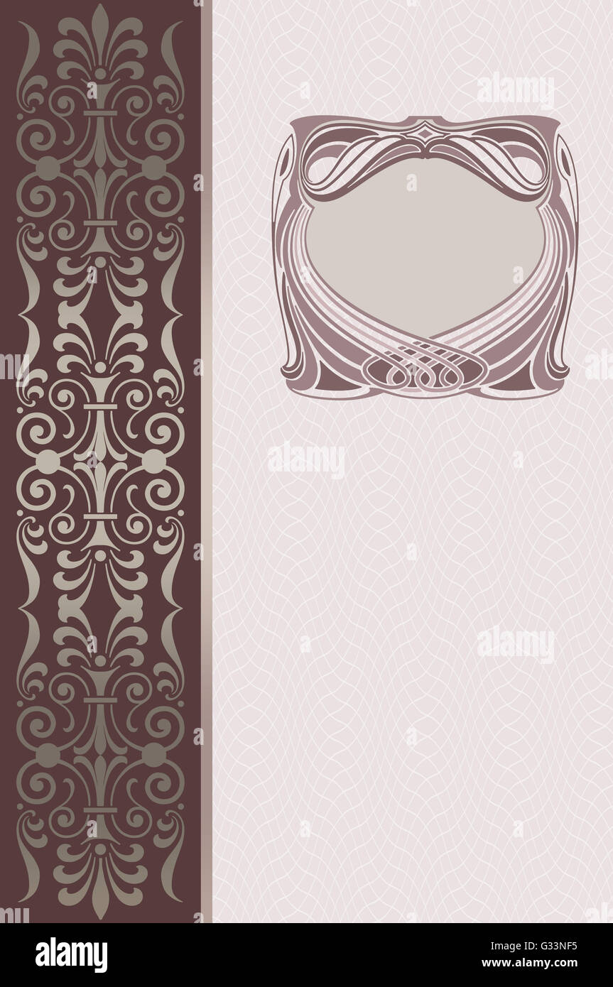 Vintage Book Cover Frame ~ Vertical vintage vector photo free trial bigstock