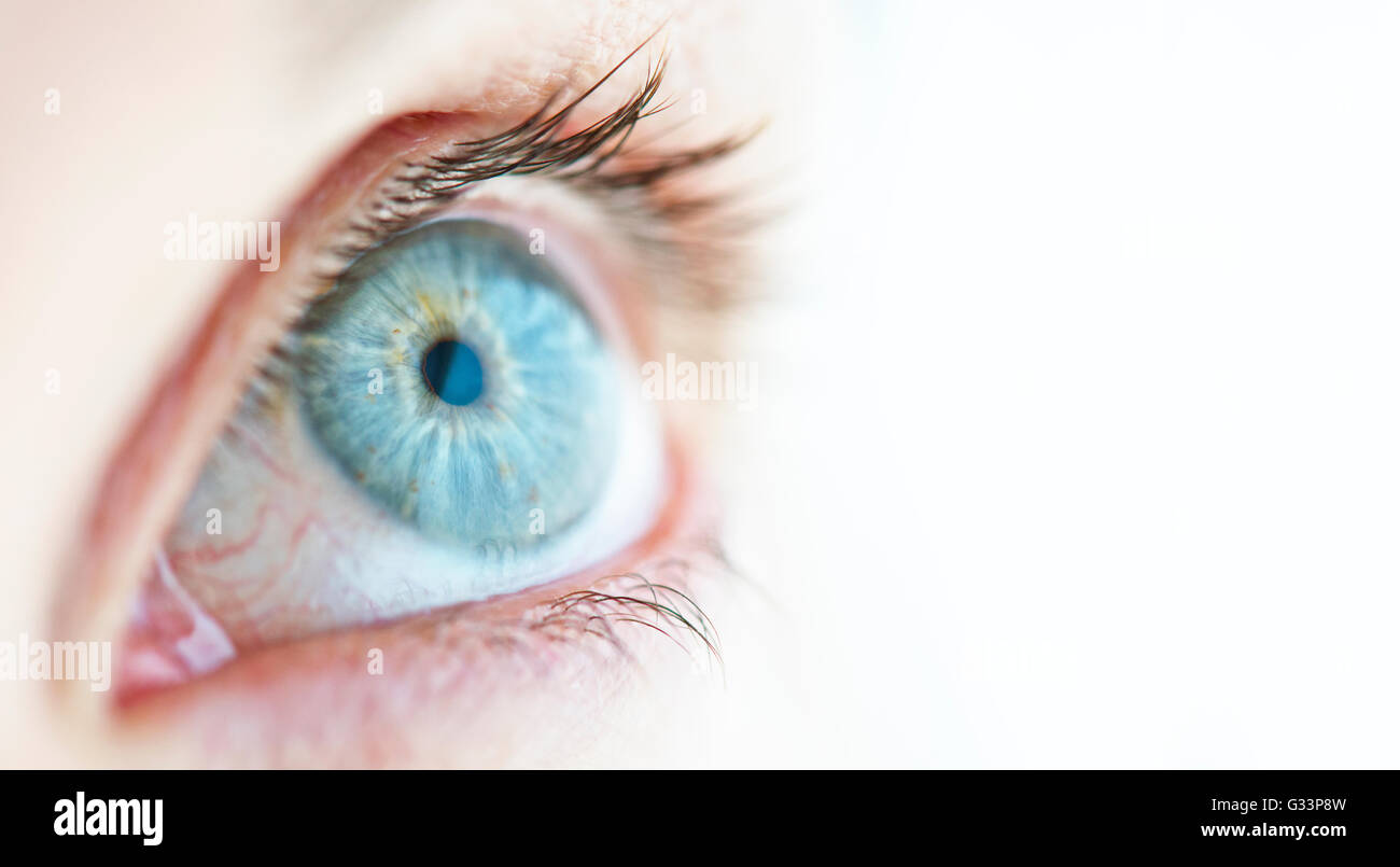 Close-up of a woman's eye. - Stock Image