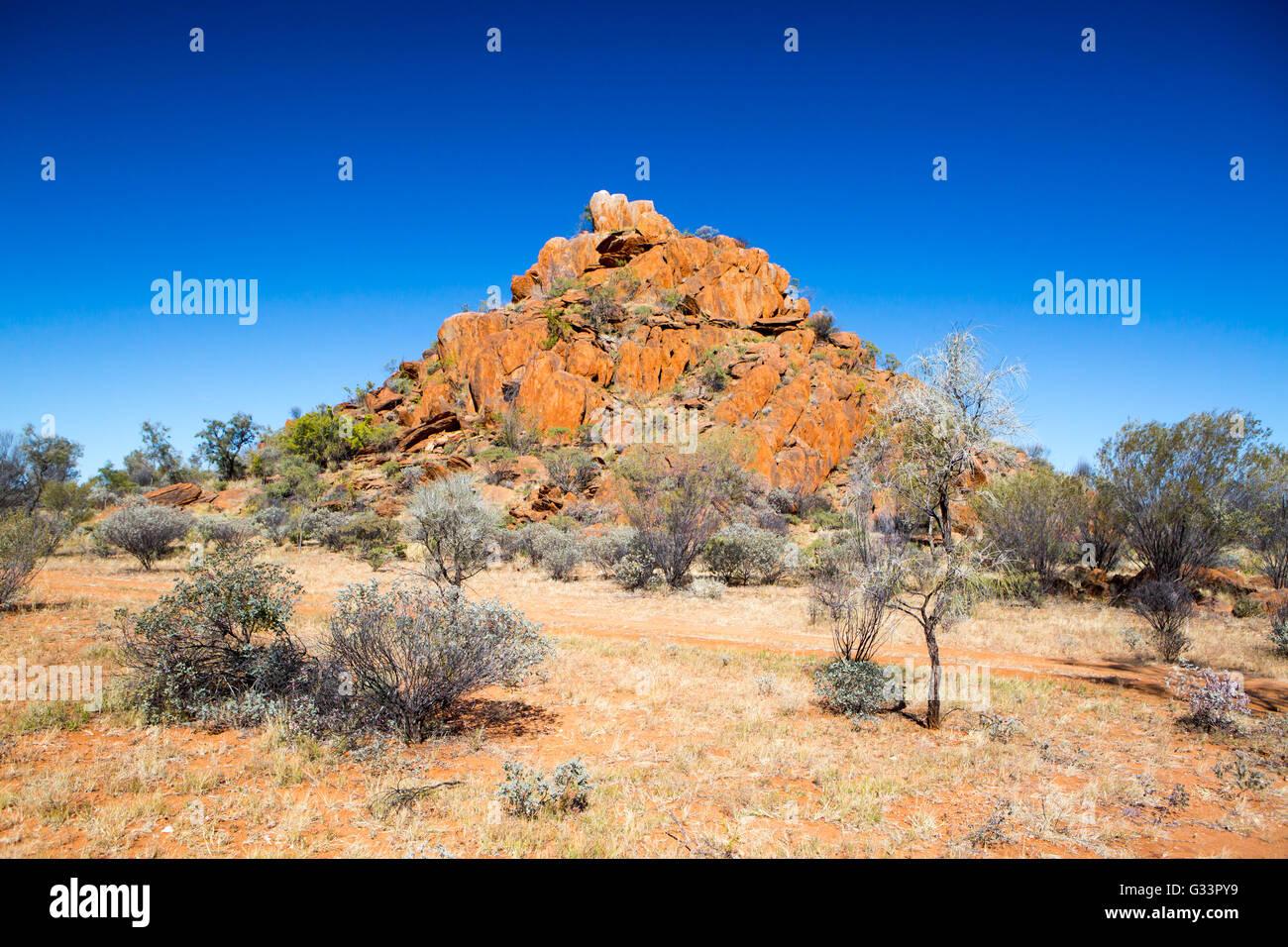 Gem fields near Gemtree in the Northern Territory, Australia - Stock Image