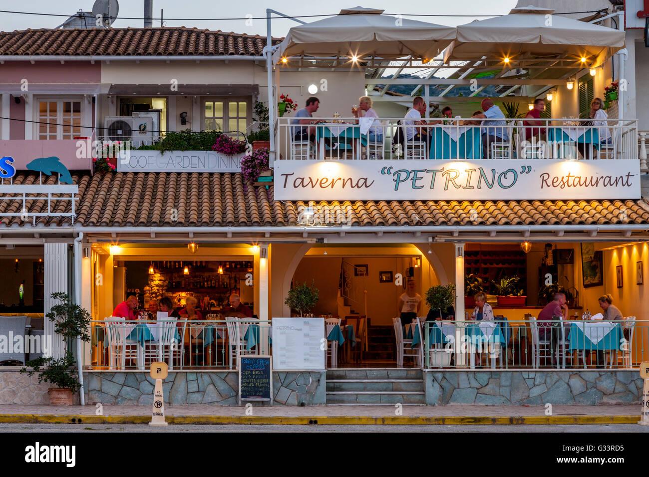 Rooftop Garden Restaurant, Kassiopi, Corfu, Greece Stock Photo ...