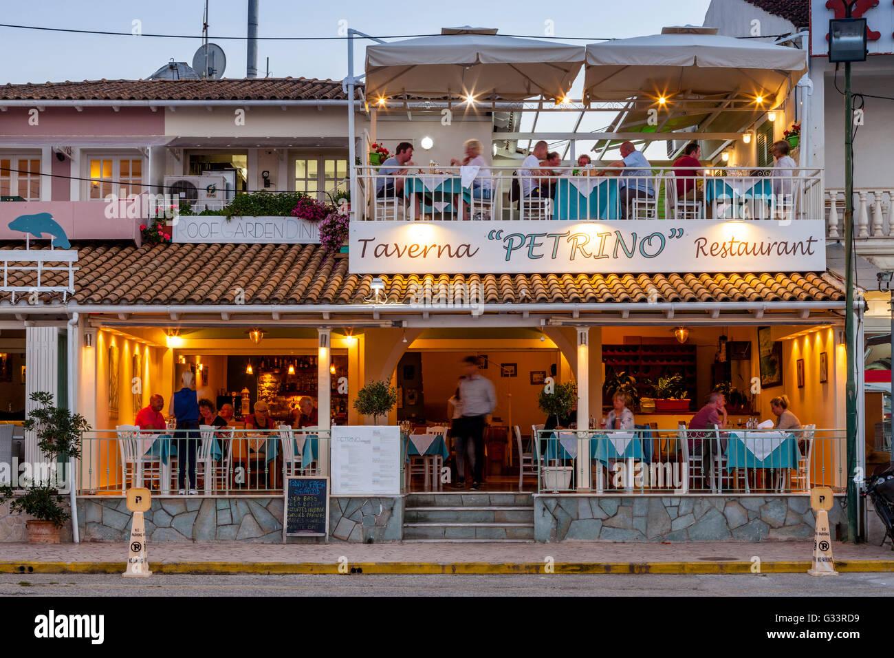 Rooftop Garden Restaurant Kassiopi Corfu Greece Stock Photo Alamy