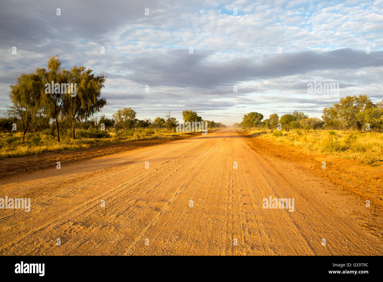 Plenty Hwy near Gemtree in the Northern Territory, Australia - Stock Image