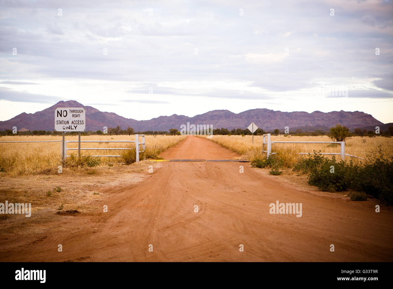 A cattle station near Gemtree in the Northern Territory, Australia - Stock Image