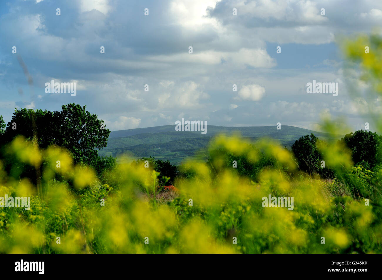 wlk.sowa, sudety, Hohe Eule, landscape, spring, weather, silesia, poland, travel, photo by kazimierz jurewicz - Stock Image