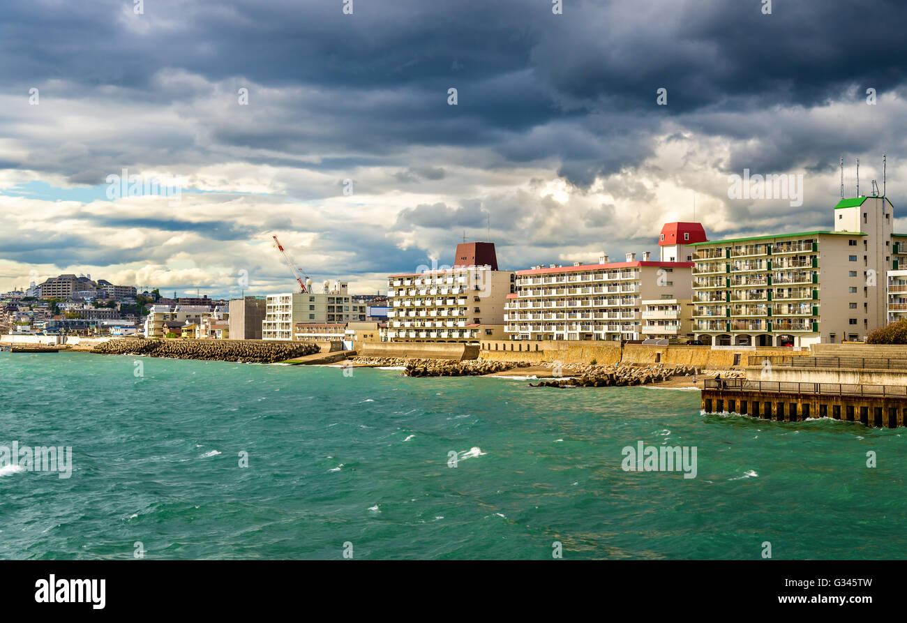 Seashore of Akashi town in Kobe - Stock Image