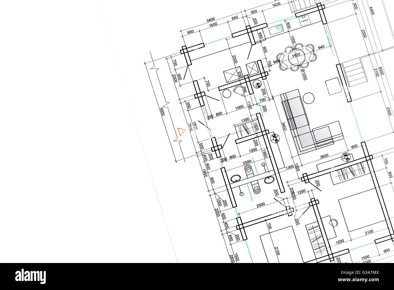 House plan blueprint architectural drawing part of architectural house plan blueprint architectural drawing part of architectural project malvernweather Images