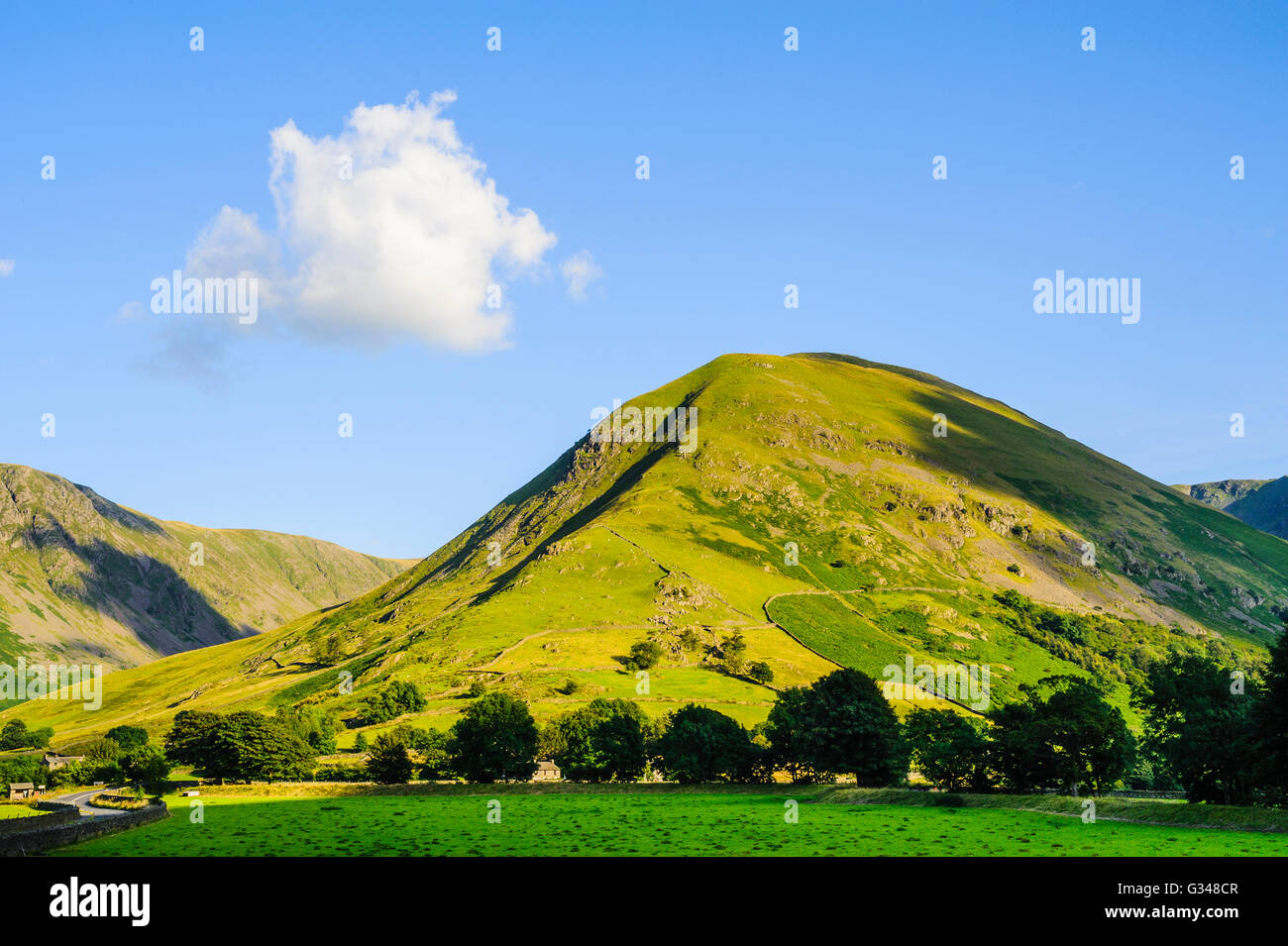Hartsop Dodd in the eastern fells of the Lake District from the Patterdale valley - Stock Image