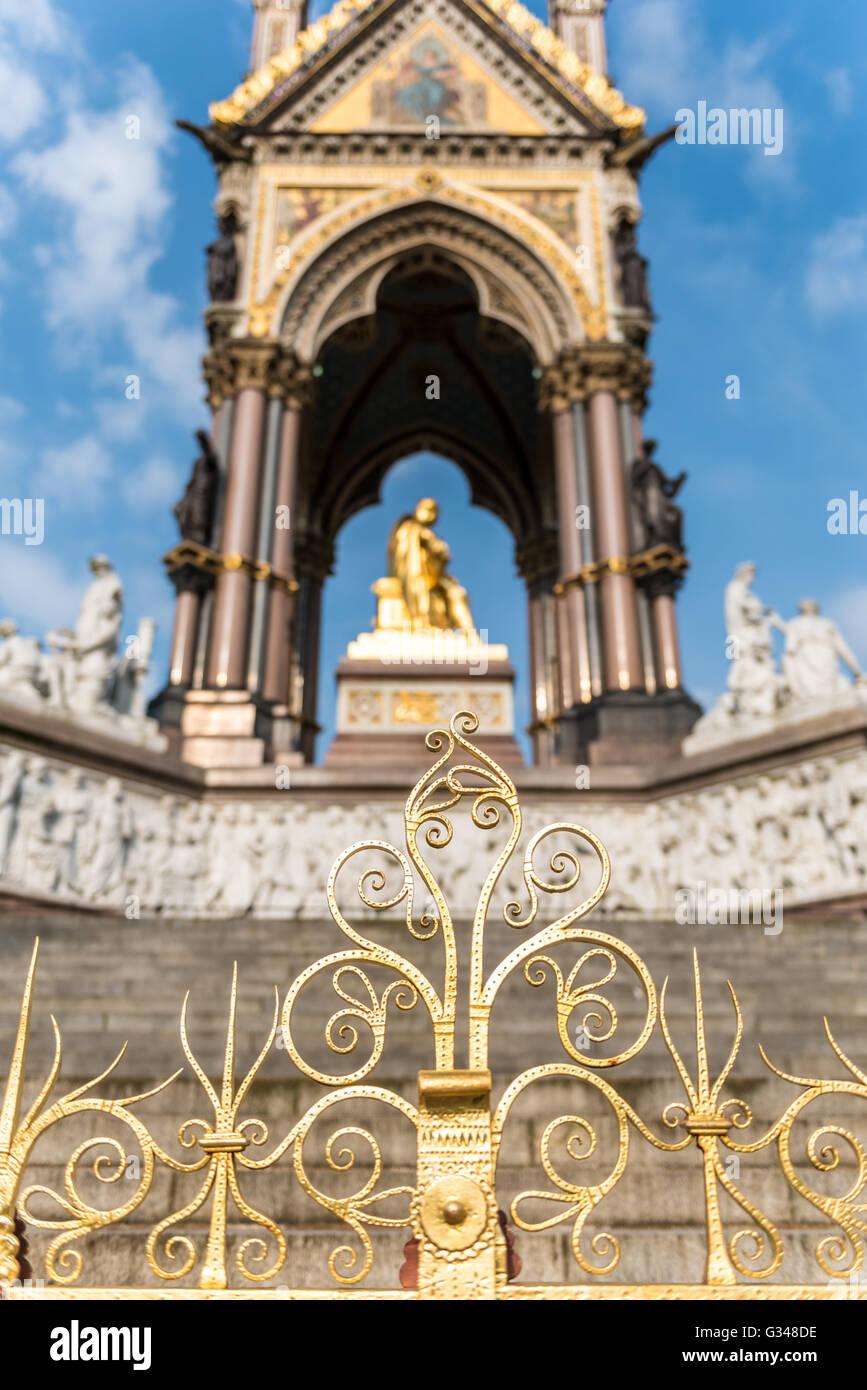 Albert Memorial in Kensington Gardens, London - Stock Image