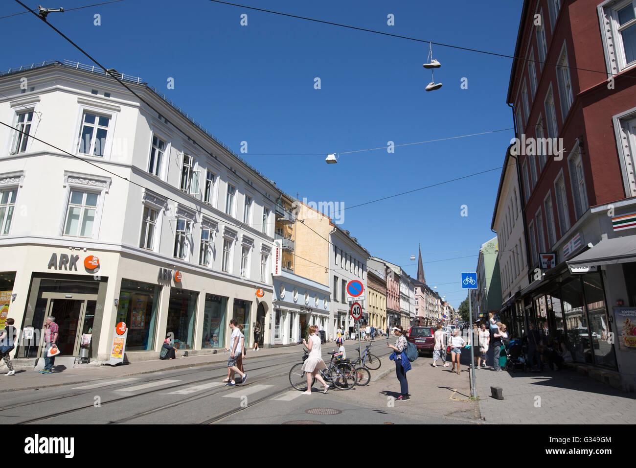 13f91711 Thorvald Meyers Gate, Grunerløkka, suburb in the capital Oslo, Norway -  Stock Image