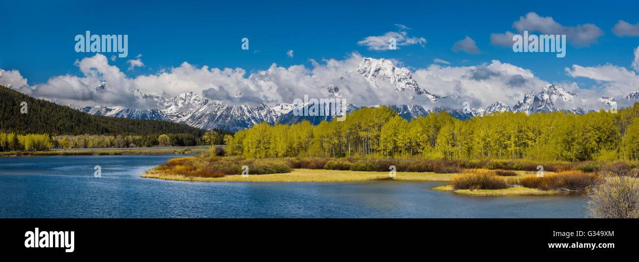 USA, Wyoming, Rockies, Rocky Mountains, Grand Teton, National Park, - Stock Image