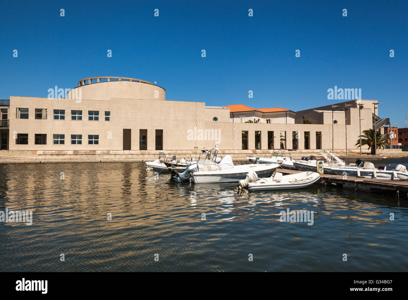National Archaeology Museum and Museo Del Mare, Olbia, Sardinia, Italy - Stock Image