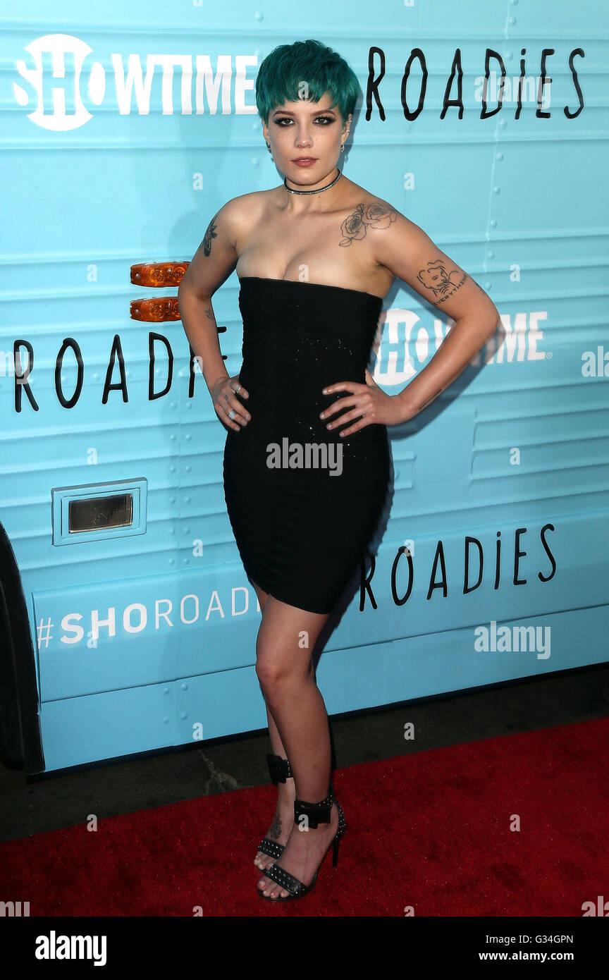 Los Angeles, CA, USA. 6th June, 2016. 06 June 2016 - Los Angeles, California - Halsey. ''Roadies'' - Stock Image