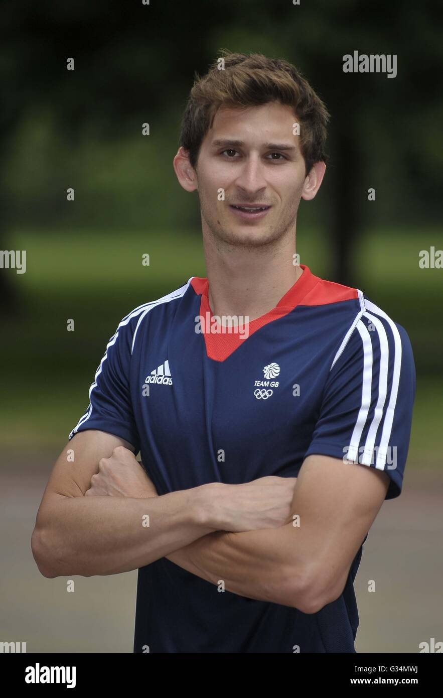 London, UK. 8th June, 2016. James Cooke. TeamGB announce the modern pentathlon team for the Rio2016 Olympics. Hyde - Stock Image