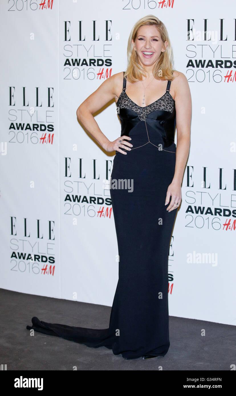 Singer Ellie Goulding arrives at the Elle Style Awards in London, England, on 23 February 2016. Photo: Hubert Boesl - Stock Image