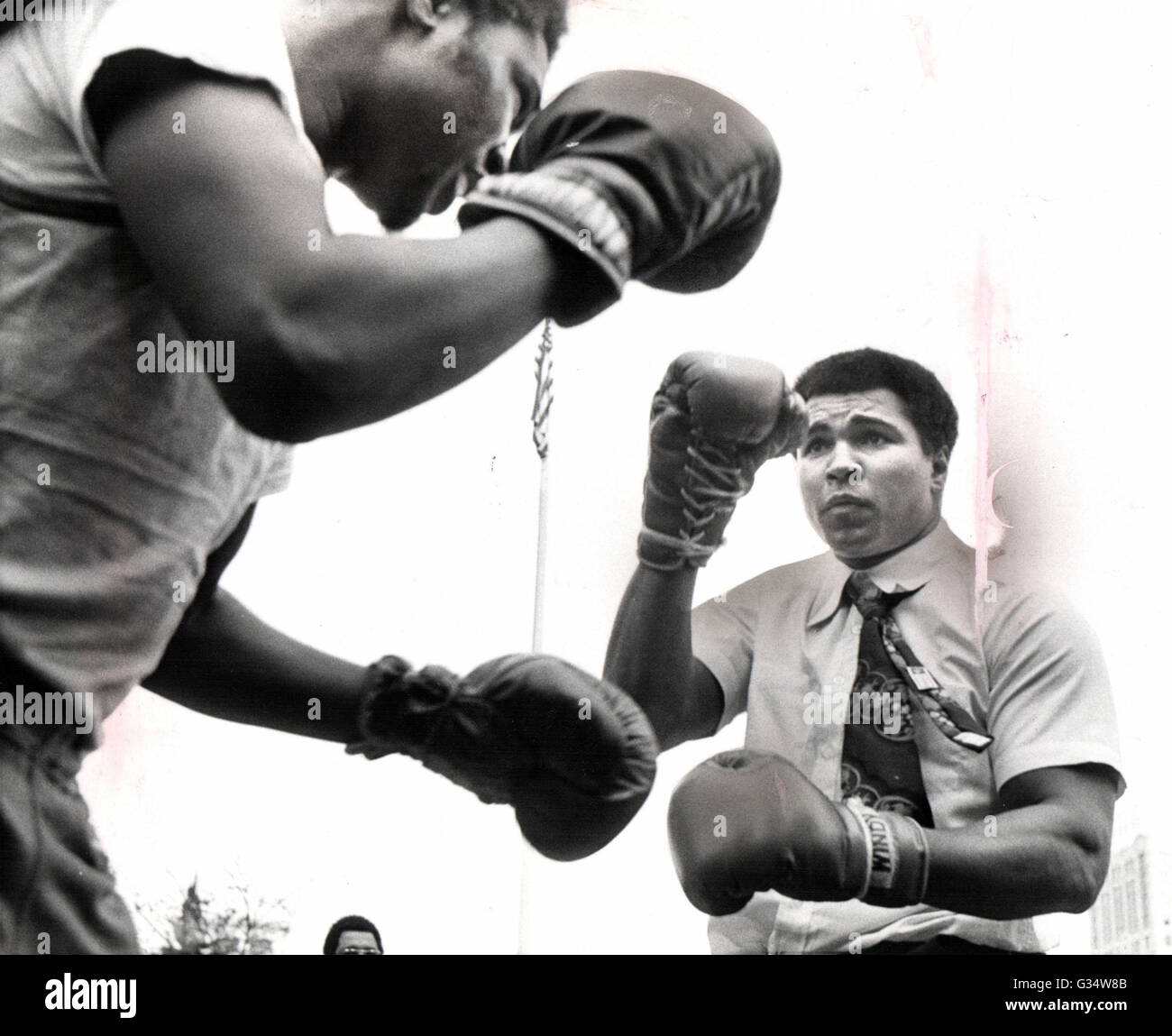 June 3, 2016 - File - MUHAMMAD ALI, the three time heavyweight boxing champion, has died at the age of 74. He had - Stock Image