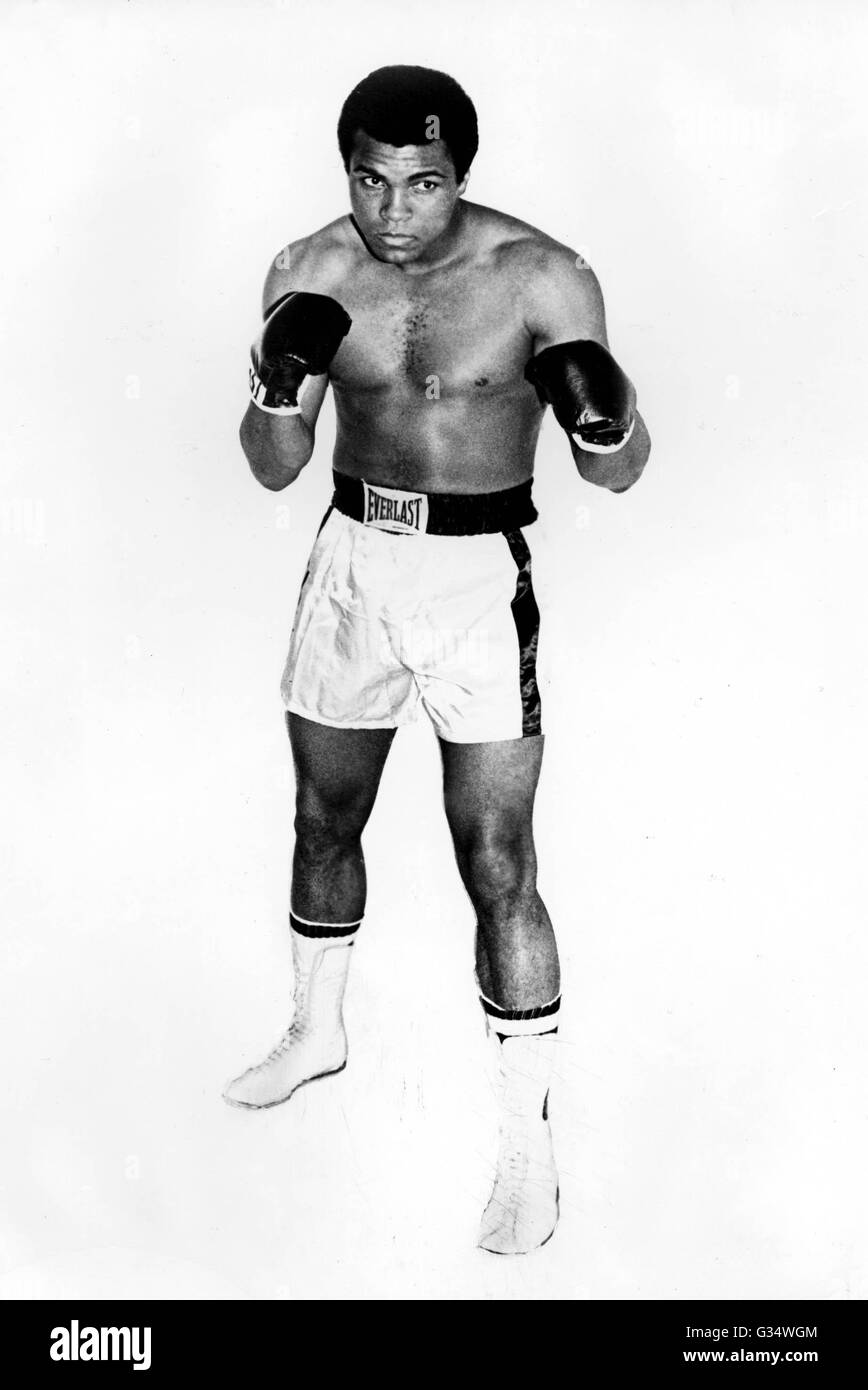 File. 3rd June, 2016. MUHAMMAD ALI, the three time heavyweight boxing champion, has died at the age of 74. He had - Stock Image