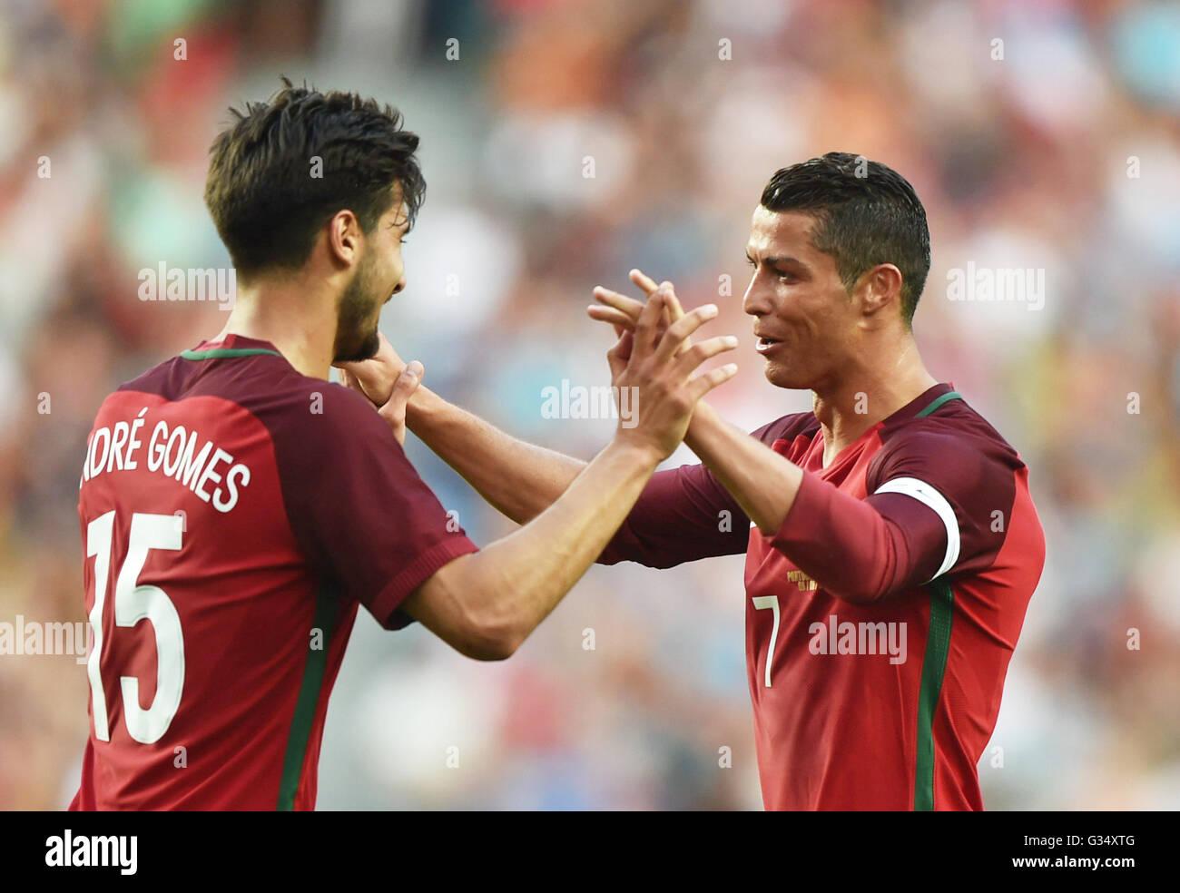 Cristiano Ronaldo Portugal Goal Stock Photos   Cristiano Ronaldo ... a7e74b9b4c47c