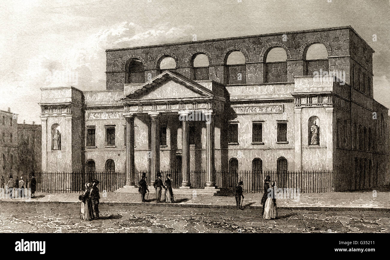 The Theatre Royal, Covent Garden, West End, London, England, 18th century - Stock Image