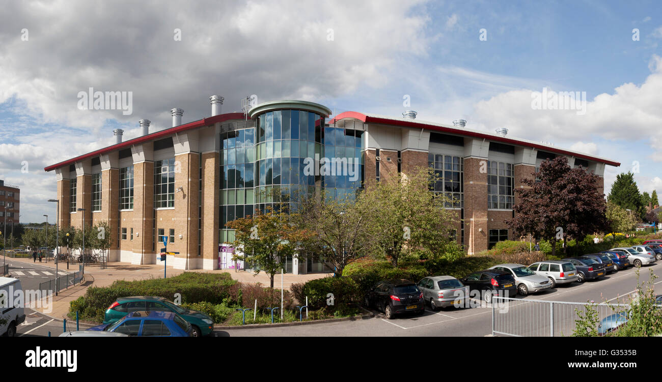 The Somers Cancer Research Building, University of Southampton, on the site of Southampton General Hospital, Southampton - Stock Image