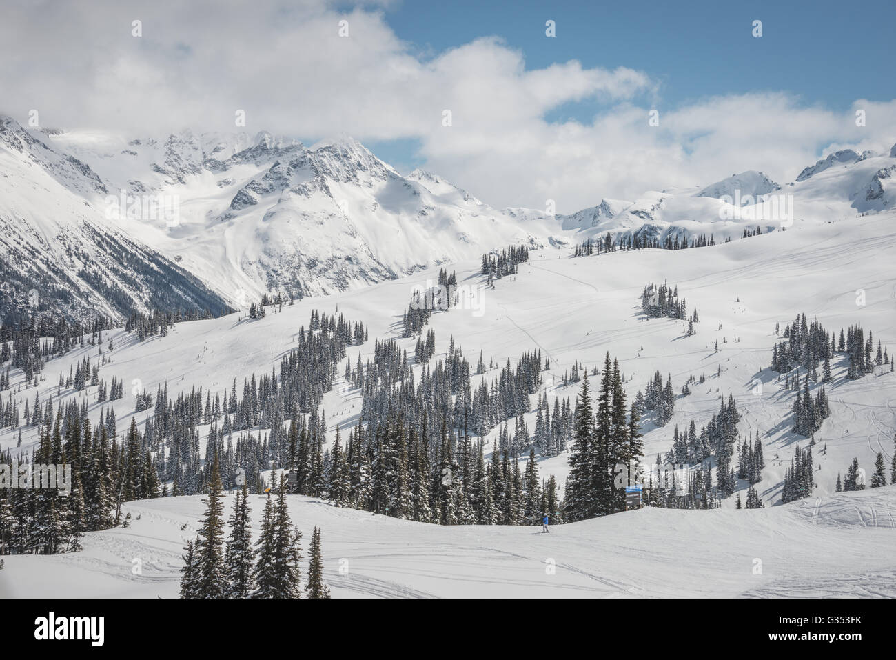 Whistler ski resort scenery Stock Photo