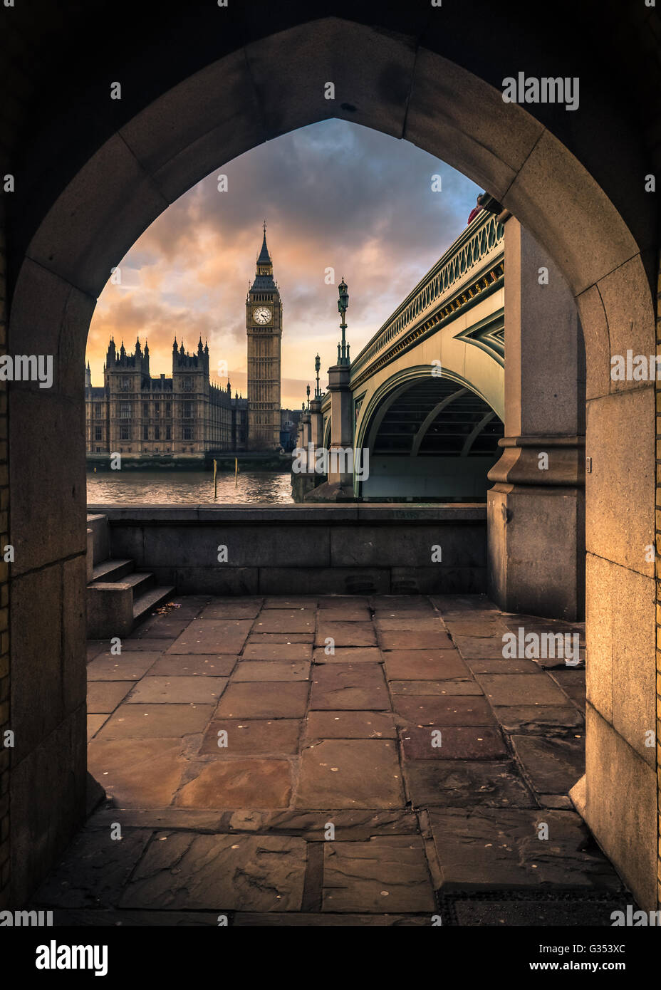 Big Ben at twilight - Stock Image