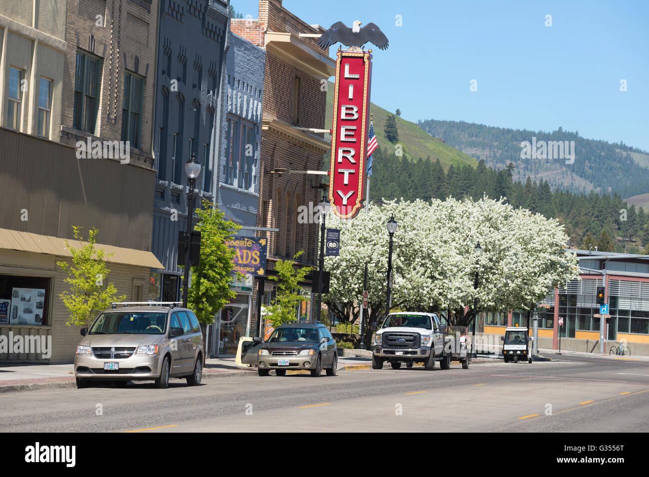 Downtown La Grande, Oregon. - Stock Image