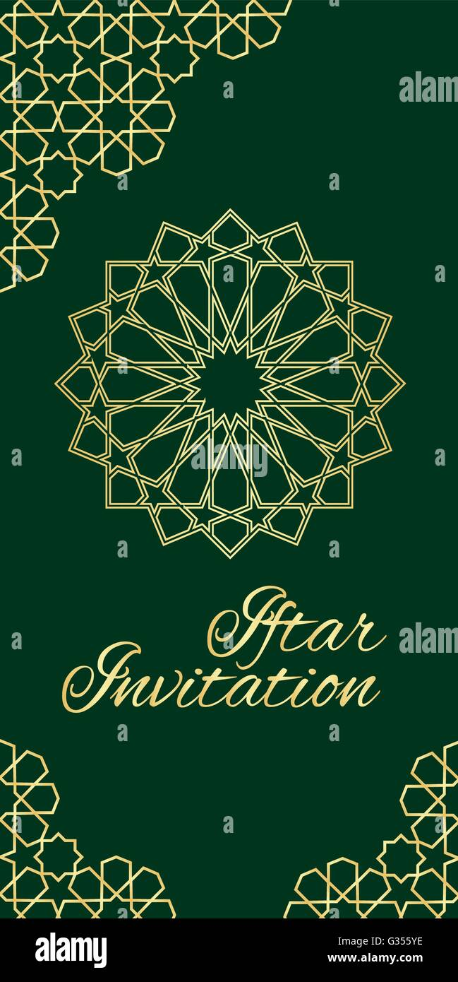 Invitation card for iftar stock vector art illustration vector invitation card for iftar stopboris Image collections