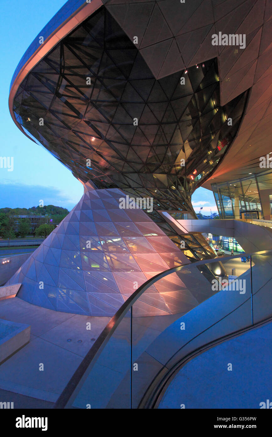 Germany, Bavaria, Munich, BMW Welt, BMW World, modern architecture, - Stock Image